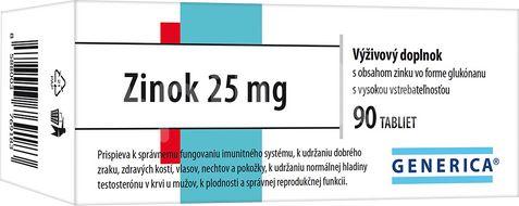Zinok 25 mg 90 tablet