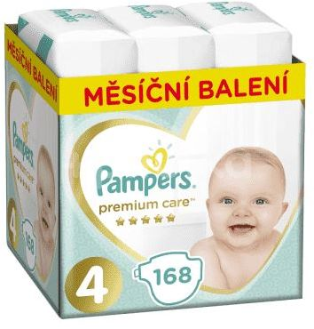 Pampers Premium Care 4 (9-14kg) Monthly Box 168ks