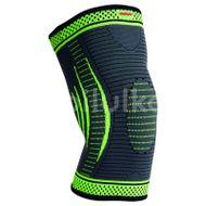 Madmax mfa-284 3d compressive knee support - dark grey/neon green, S