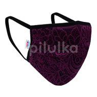 New Baby Ochranné textilné rúško, fialové