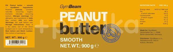 GymBeam 100% Arašidové maslo 900 g smooth