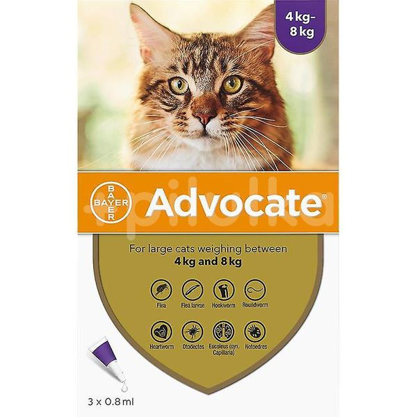 Advocate For Cats 4-8kg 3x0,8ml