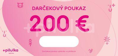Darčekový poukaz 200 €