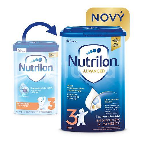 Nutrilon 3 batoľacia mliečna výživa v prášku 1x800g