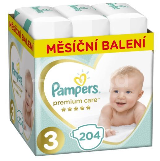 Pampers Premium Care 3 (6-10kg) Monthly Box 204ks